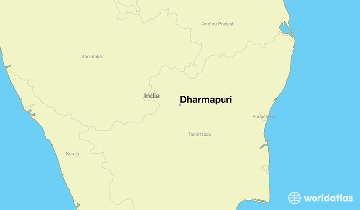 map showing the location of Dharmapuri