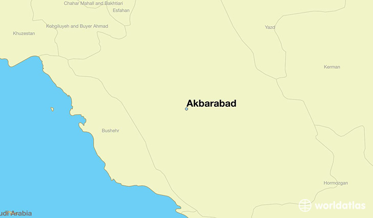 map showing the location of Akbarabad