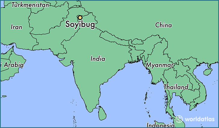 map showing the location of Soyibug