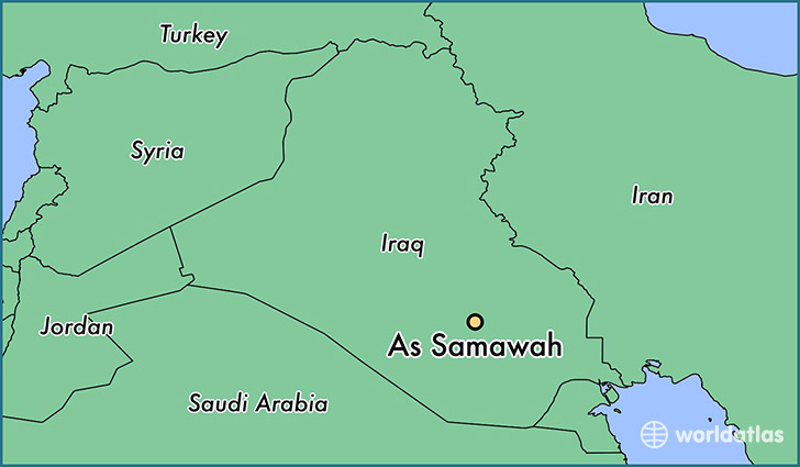 map showing the location of As Samawah