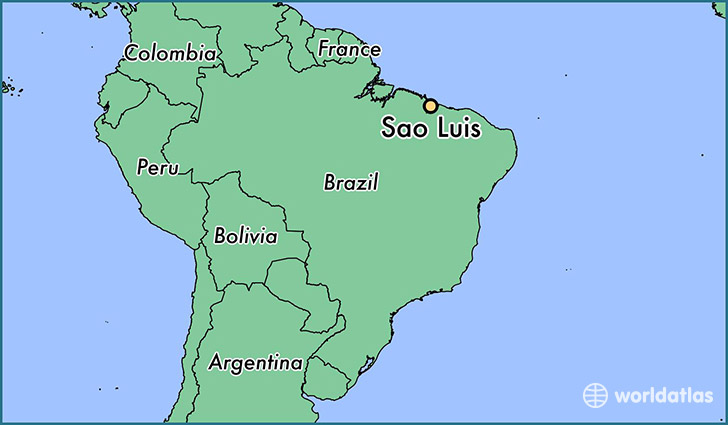 map showing the location of Sao Luis