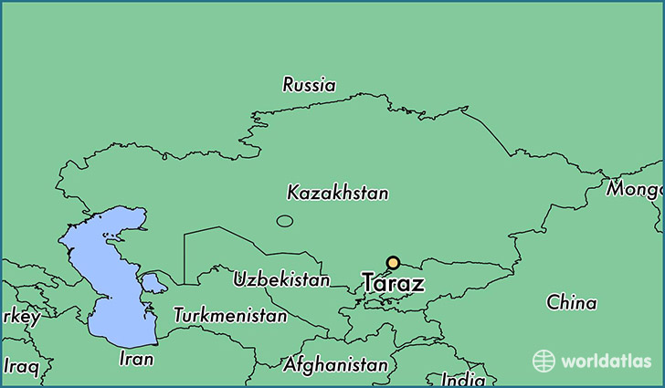 map showing the location of Taraz
