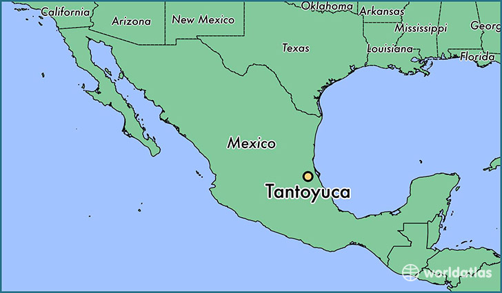 map showing the location of Tantoyuca