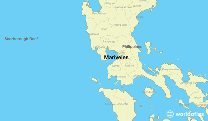 map showing the location of Mariveles