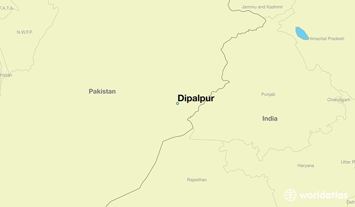 map showing the location of Dipalpur