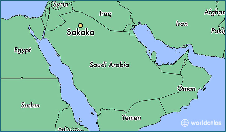 map showing the location of Sakaka