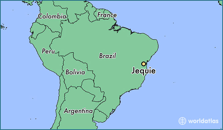 map showing the location of Jequie