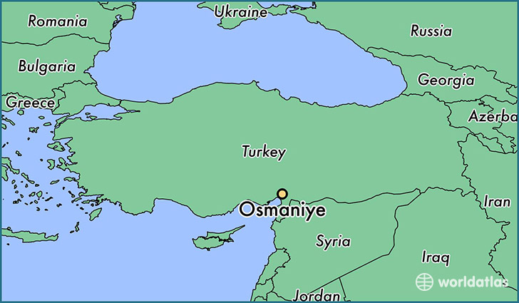 map showing the location of Osmaniye