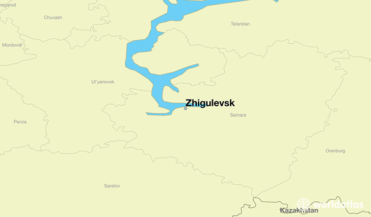 map showing the location of Zhigulevsk