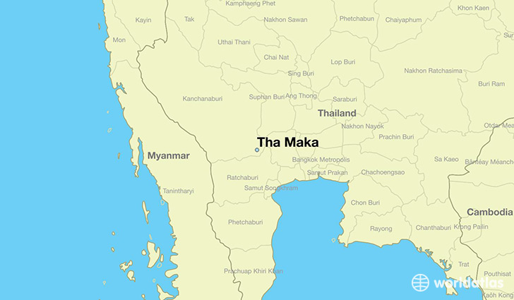 map showing the location of Tha Maka