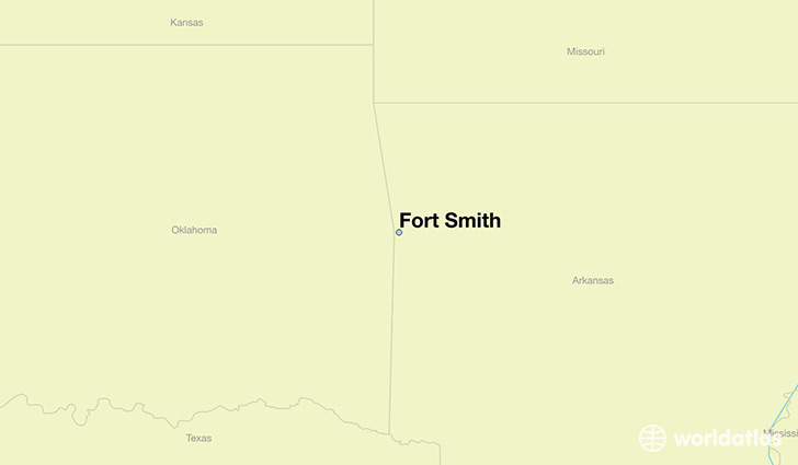 map showing the location of Fort Smith