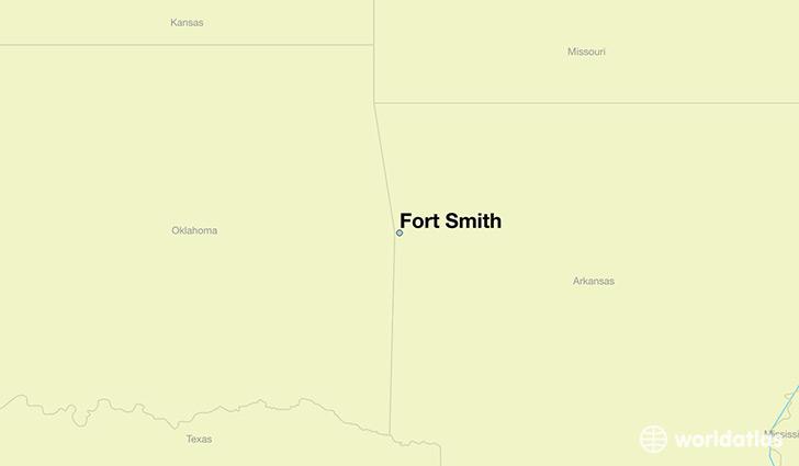 Where is Fort Smith AR Fort Smith Arkansas Map WorldAtlascom