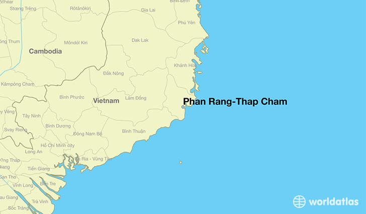 map showing the location of Phan Rang-Thap Cham