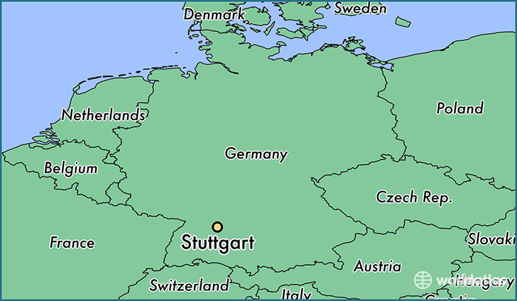 map showing the location of Stuttgart