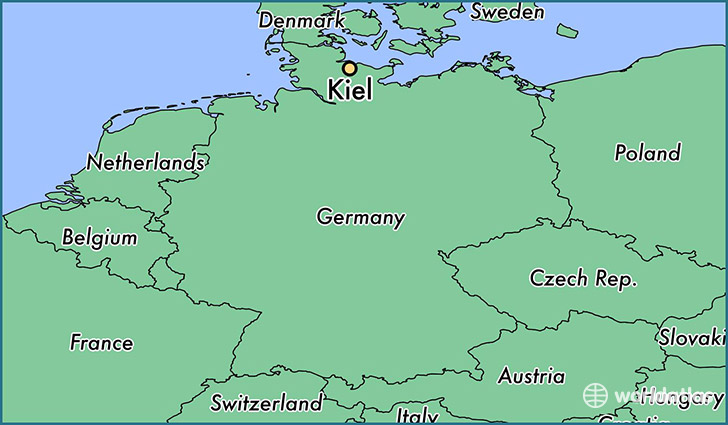 Image result for map of Kiel germany