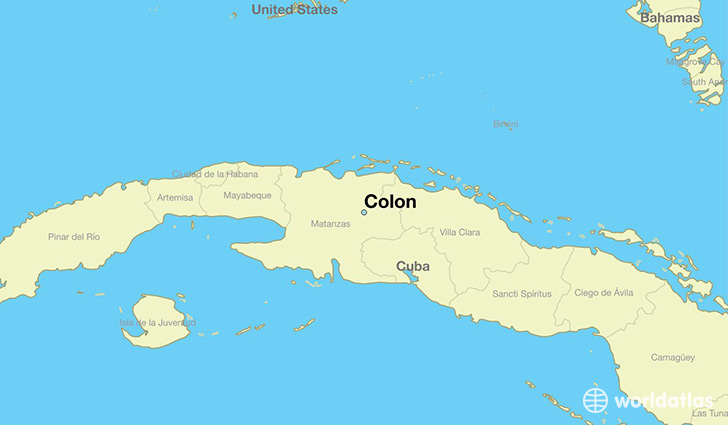 map showing the location of Colon