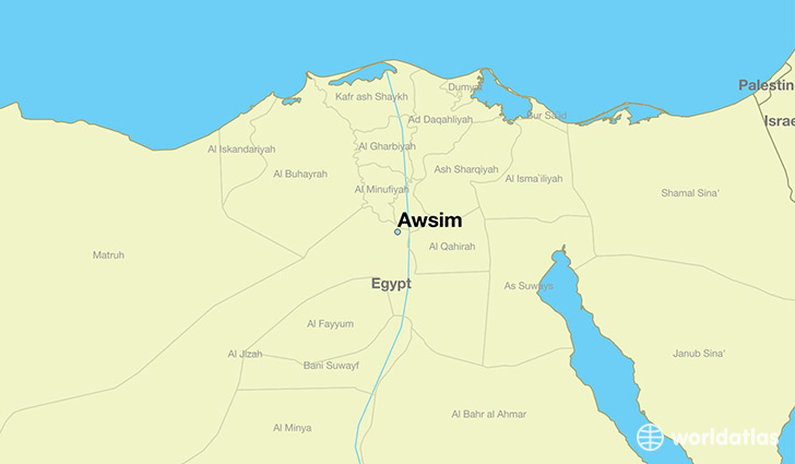 map showing the location of Awsim
