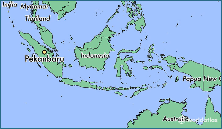 map showing the location of Pekanbaru