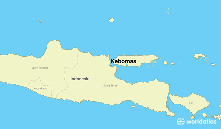 map showing the location of Kebomas
