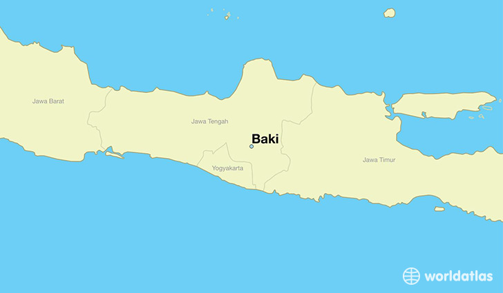 map showing the location of Baki