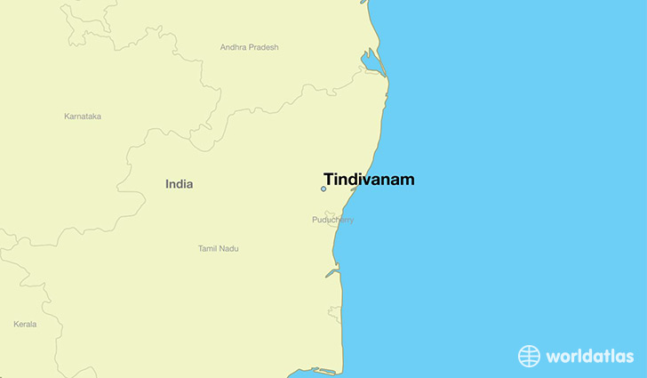 map showing the location of Tindivanam