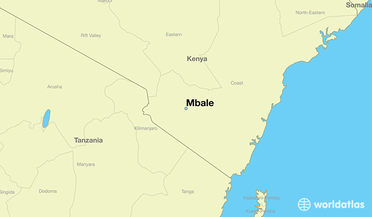 map showing the location of Mbale