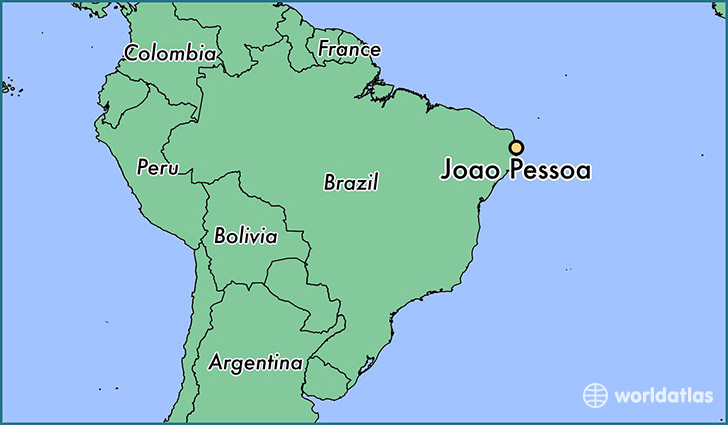 map showing the location of Joao Pessoa