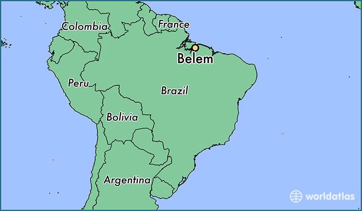 Where is Belem Brazil Belem Para Map WorldAtlascom
