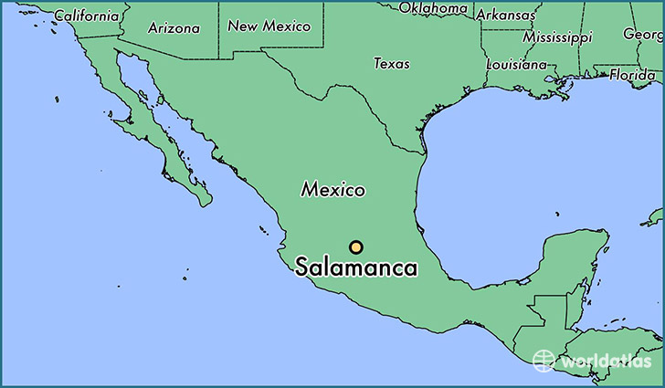 map showing the location of Salamanca