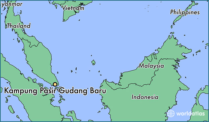 map showing the location of Kampung Pasir Gudang Baru