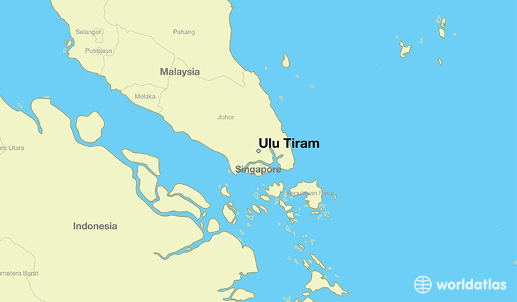 map showing the location of Ulu Tiram