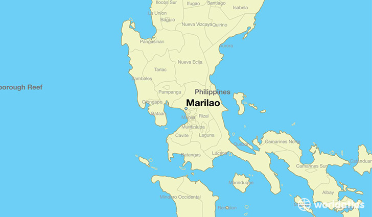 map showing the location of Marilao