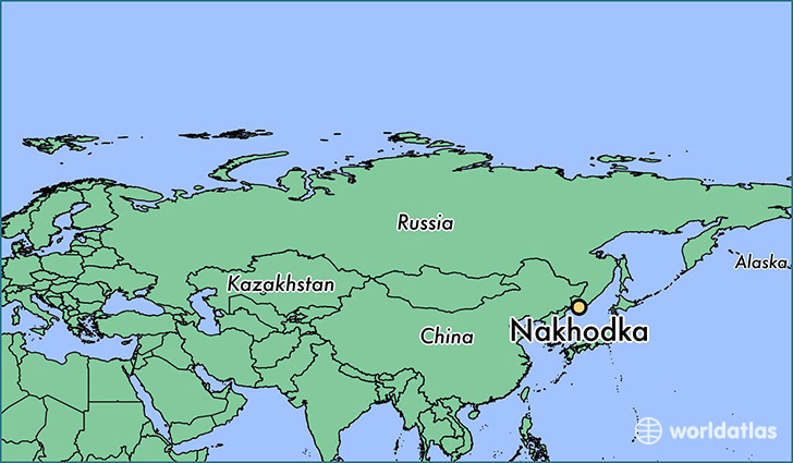 map showing the location of Nakhodka