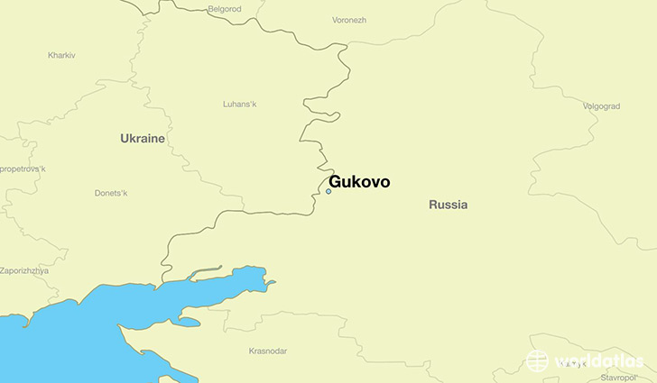 map showing the location of Gukovo