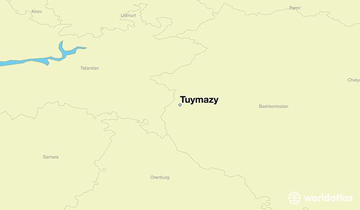 map showing the location of Tuymazy