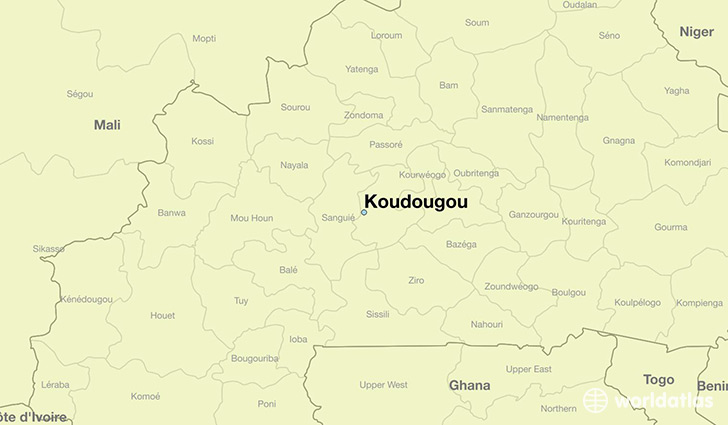 map showing the location of Koudougou
