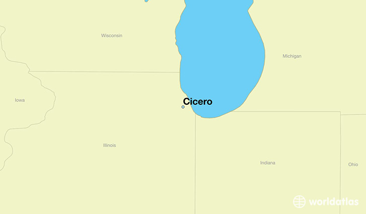 map showing the location of Cicero