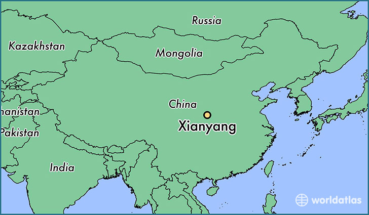 Where is xianyang china xianyang shaanxi map worldatlas map showing the location of xianyang gumiabroncs Image collections