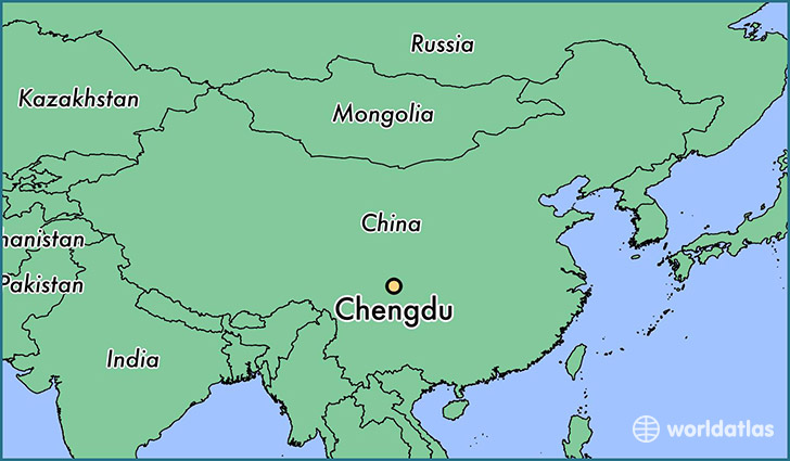 Where is Chengdu China Chengdu Sichuan Map WorldAtlascom