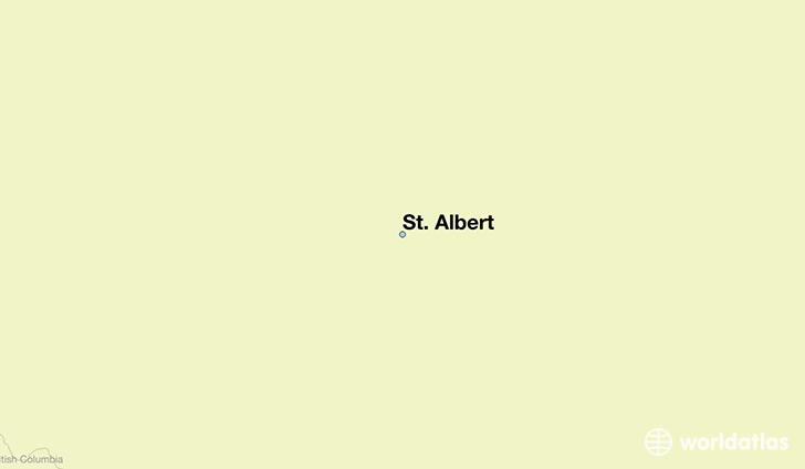 map showing the location of St. Albert