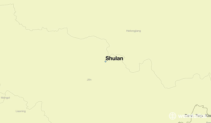 map showing the location of Shulan