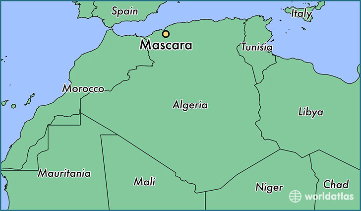 map showing the location of Mascara