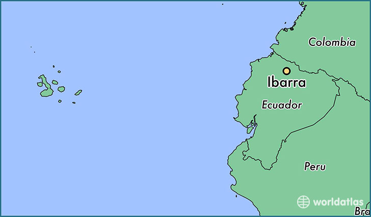 map showing the location of Ibarra