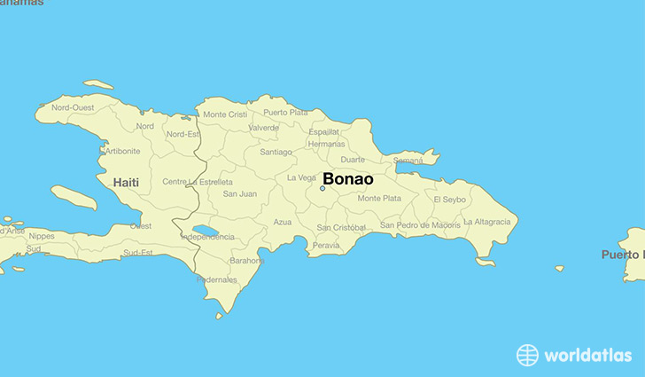map showing the location of Bonao