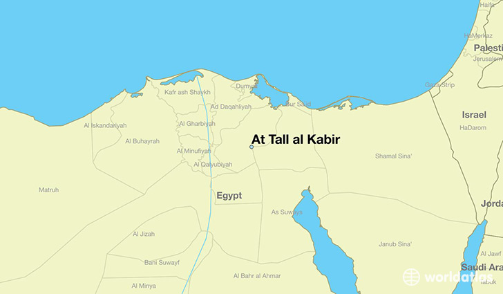 map showing the location of At Tall al Kabir