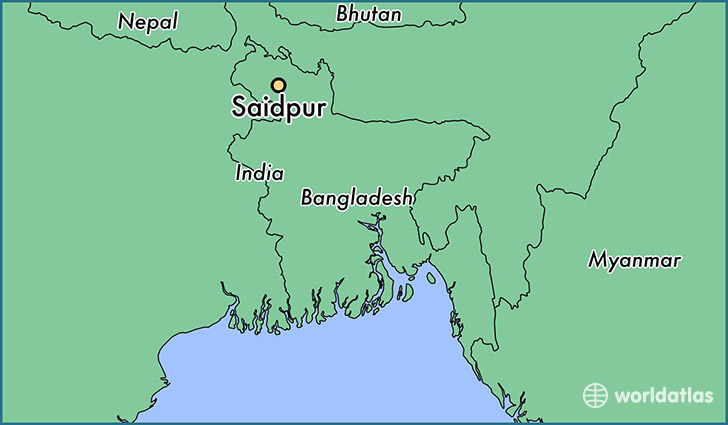 map showing the location of Saidpur