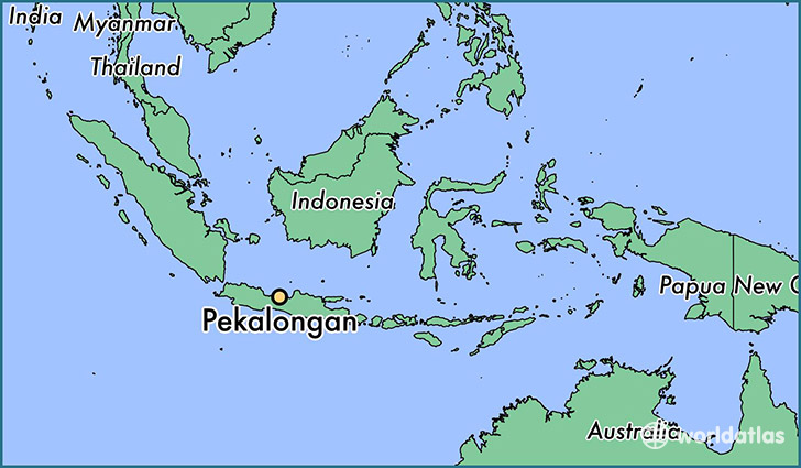 map showing the location of Pekalongan