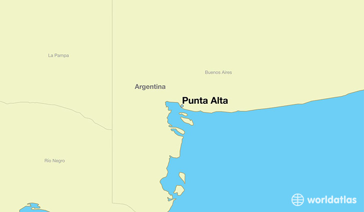 map showing the location of Punta Alta