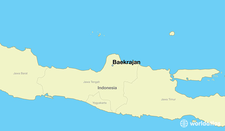 map showing the location of Baekrajan