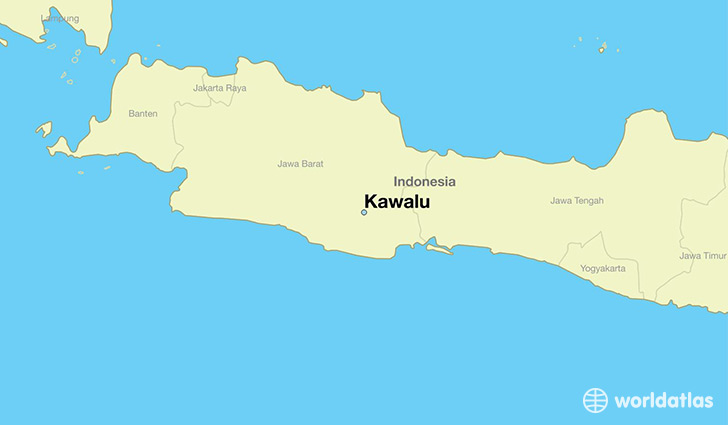 map showing the location of Kawalu